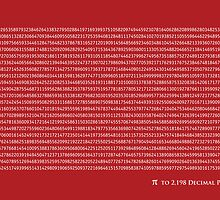 Pi to 2,198 decimal place by ArtPrints