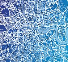 London England Street Map Art by Michael Tompsett