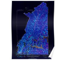 USGS TOPO Map New Hampshire NH Indian Stream 330096 1926 62500 Inverted Poster