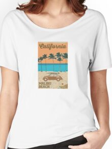 Malibu - California. Women's Relaxed Fit T-Shirt