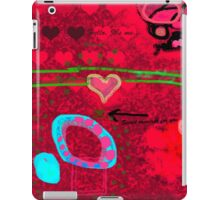 Message in the abstract picture iPad Case/Skin