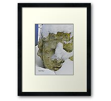 Statue in the Snow Framed Print