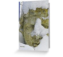 Statue in the Snow Greeting Card