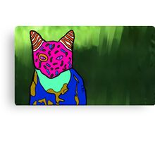 Abstract Bright Colorful Cat  Canvas Print