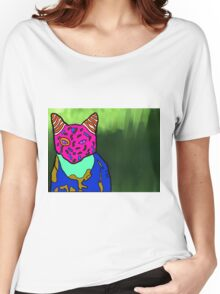 Abstract Bright Colorful Cat  Women's Relaxed Fit T-Shirt