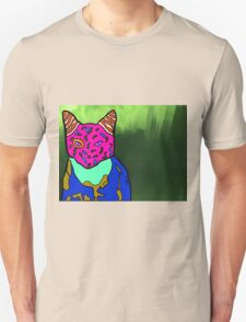 Abstract Bright Colorful Cat  T-Shirt