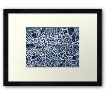 London England Street Map Art Framed Print