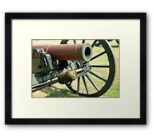 Civil War Canon Framed Print