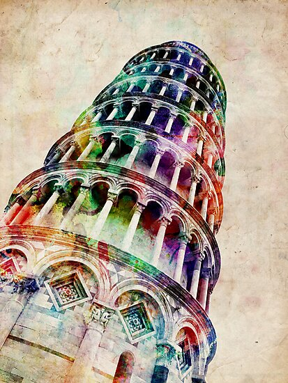Leaning Tower of Pisa by Michael Tompsett