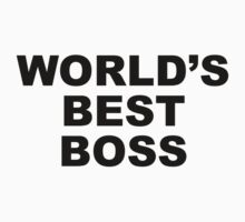 Worlds Best Boss by innercoma