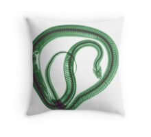 Snake under x-ray a whole mouse can be seen  Throw Pillow