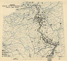 December 14 1944 World War II HQ Twelfth Army Group situation map Photographic Print