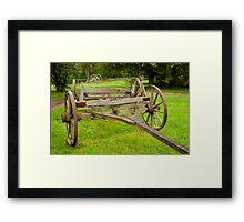 Historic wagon wheels Framed Print