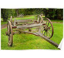 Historic wagon wheels Poster