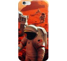 Concept Art of Future Manned Mars Mission iPhone Case/Skin