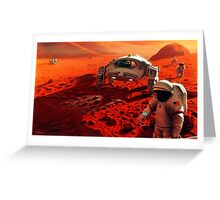 Concept Art of Future Manned Mars Mission Greeting Card