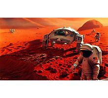 Concept Art of Future Manned Mars Mission Photographic Print