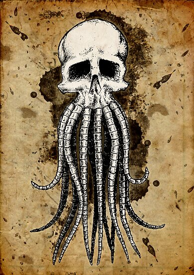 Skull octopus/davy jones by beanarts
