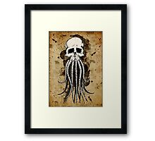 Skull octopus/davy jones Framed Print
