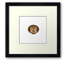 Hedgehog head Framed Print