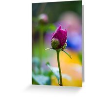 Wet Flower Greeting Card