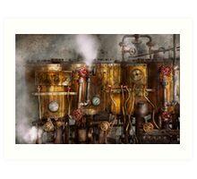 Steampunk - Plumbing - Distilation apparatus  Art Print