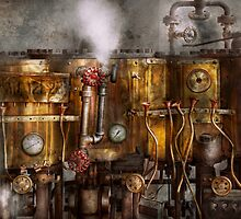 Steampunk - Plumbing - Distilation apparatus  by Mike  Savad