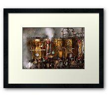 Steampunk - Plumbing - Distilation apparatus  Framed Print