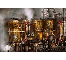 Steampunk - Plumbing - Distilation apparatus  Photographic Print