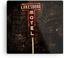 Lake Shore Motel Metal Print