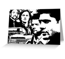 Supernatural silhouettes Greeting Card