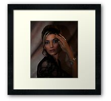 """ That look "" Framed Print"