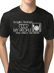 IH FEED MY PEOPLE BLK Tri-blend T-Shirt