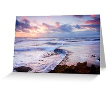 Incoming Tide at Sunset Greeting Card