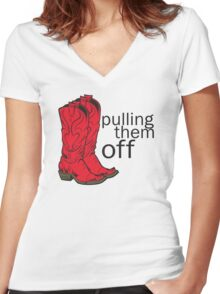 How I met your mother Pulling them off Women's Fitted V-Neck T-Shirt