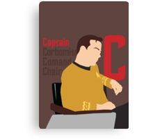C is for Captain and Corbomite Canvas Print
