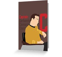 C is for Captain and Corbomite Greeting Card