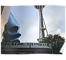 Seattle: Space Needle, EMP & Monorail Poster