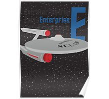 E is for Enterprise and Earth Poster