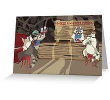 Raccoon Saloon Greeting Card