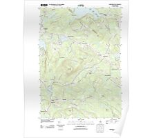 USGS TOPO Map New Hampshire NH Northwood 20120508 TM Poster