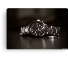 A shot of a watch with a EF 50mm Lense Canvas Print