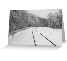 Snow Tracks Greeting Card