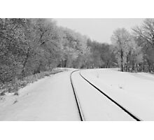 Snow Tracks Photographic Print