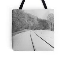 Snow Tracks Tote Bag