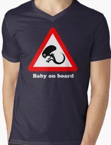 Baby on board Mens V-Neck T-Shirt