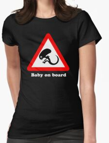 Baby on board Womens Fitted T-Shirt