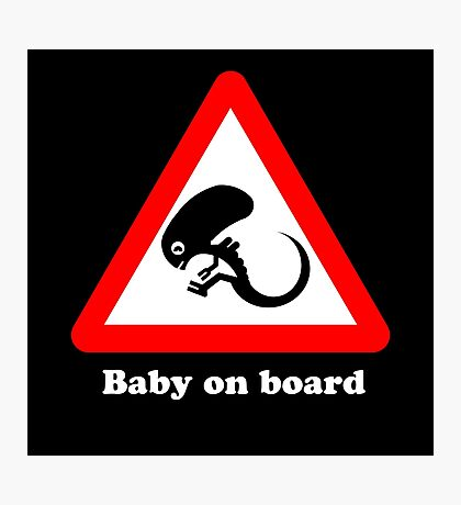 Baby on board Photographic Print
