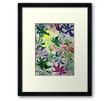 RAINBOW FLOWERS Framed Print