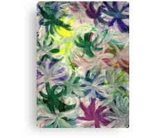RAINBOW FLOWERS Canvas Print